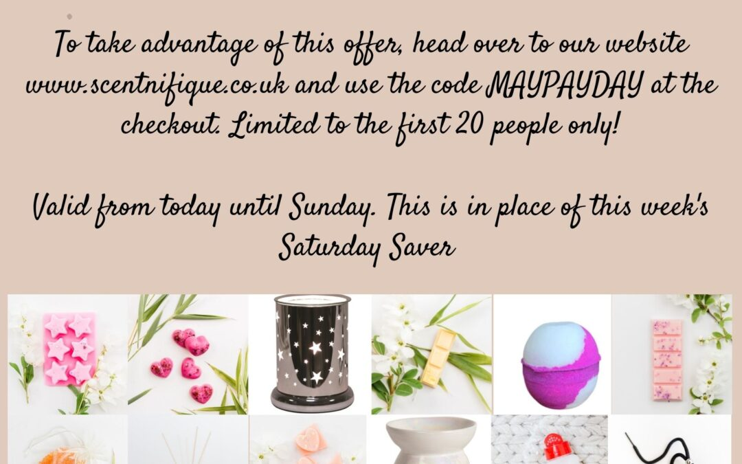 Save 15% on wax melt & home fragrance items this May Bank Holiday Weekend (minimum spend applies)