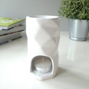 stunning white abstract tea light wax burner